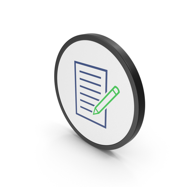 Icon Document Paper With Pen PNG & PSD Images