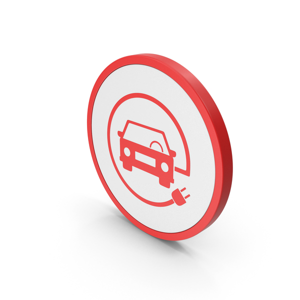 Logo: Icon Electric Vehicle Charging Red PNG & PSD Images