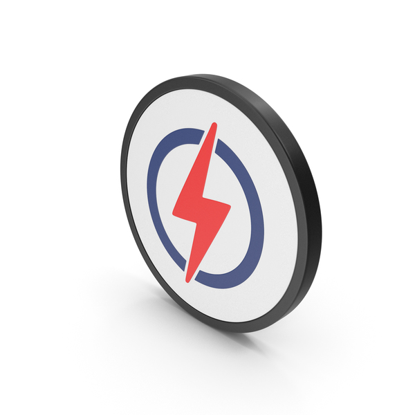 Computer: Icon Electricity Colored PNG & PSD Images
