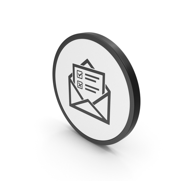 Computer: Icon Envelope With Checklist PNG & PSD Images