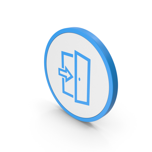 Sign: Icon Exit Blue PNG & PSD Images