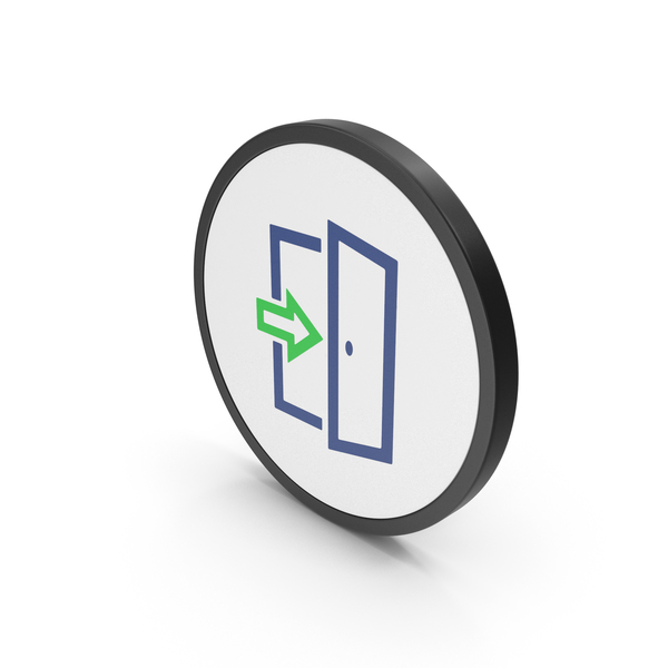 Sign: Icon Exit Green PNG & PSD Images