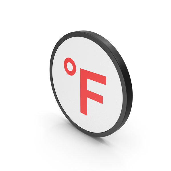 Meteorology Symbols: Icon Fahrenheit Degrees Red PNG & PSD Images