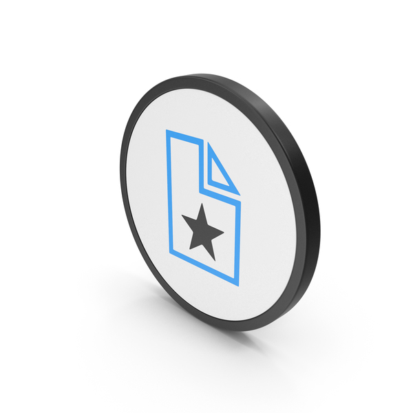 Computer: Icon Favorite File Blue PNG & PSD Images