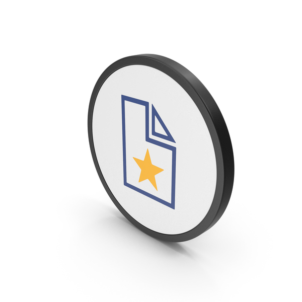 Computer: Icon Favorite File Colored PNG & PSD Images
