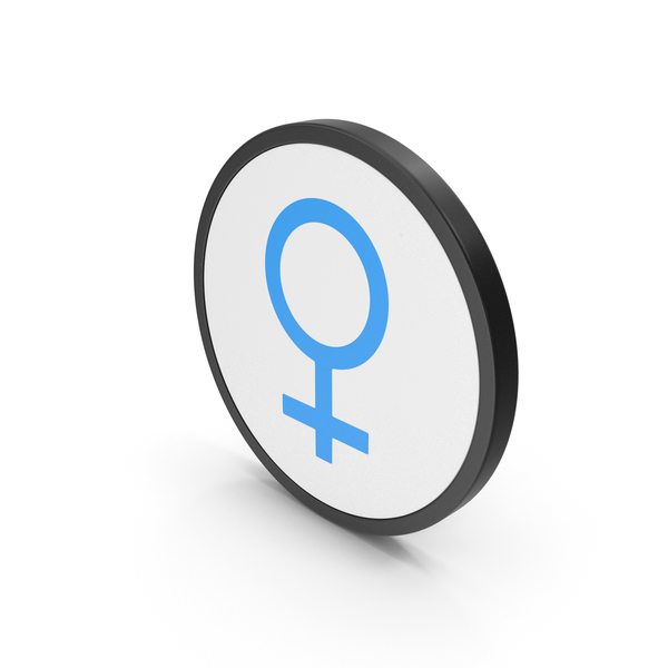 Symbol: Icon Female Blue PNG & PSD Images
