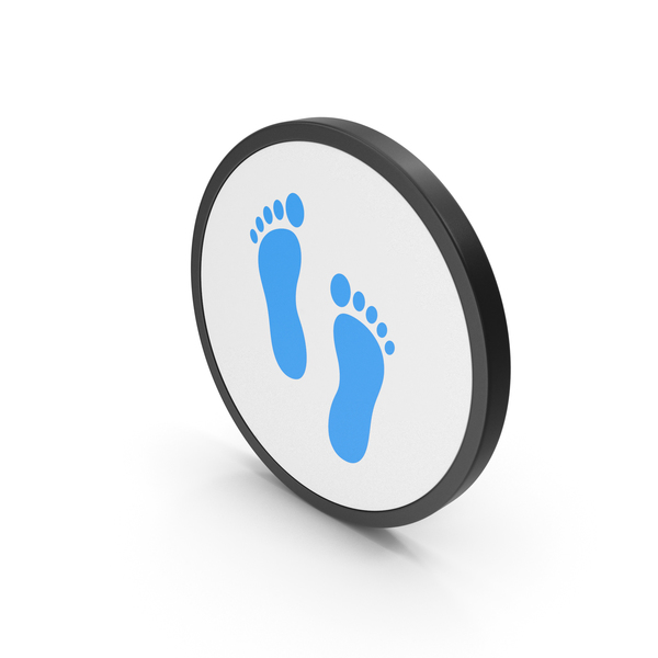 Computer: Icon Footprint Blue PNG & PSD Images
