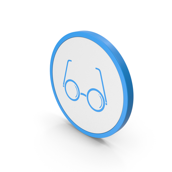 Logo: Icon Glasses Blue PNG & PSD Images