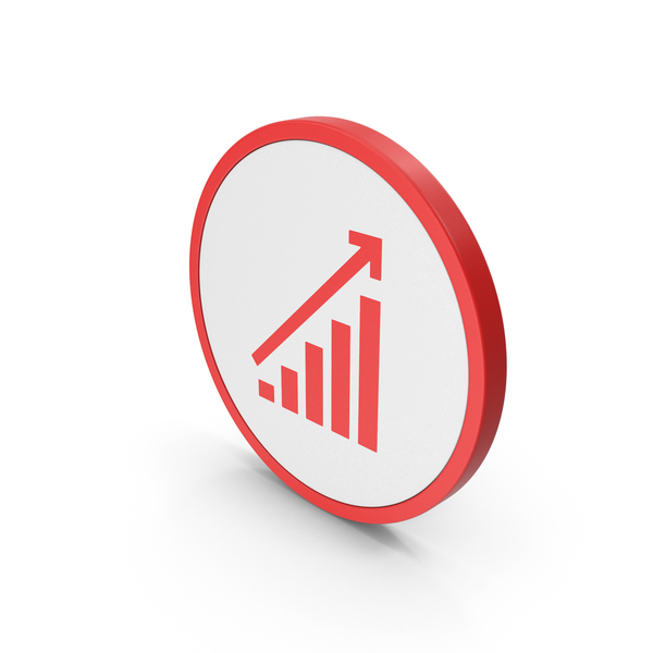 Icon Graph Chart Red PNG & PSD Images