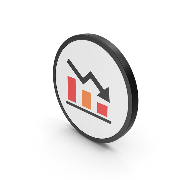 Line Chart: Icon Graph Down PNG & PSD Images