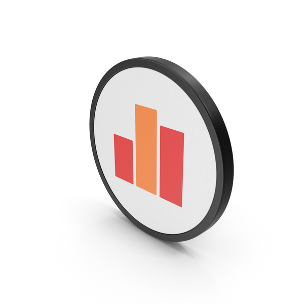 Line Chart: Icon Graph Red Orange PNG & PSD Images