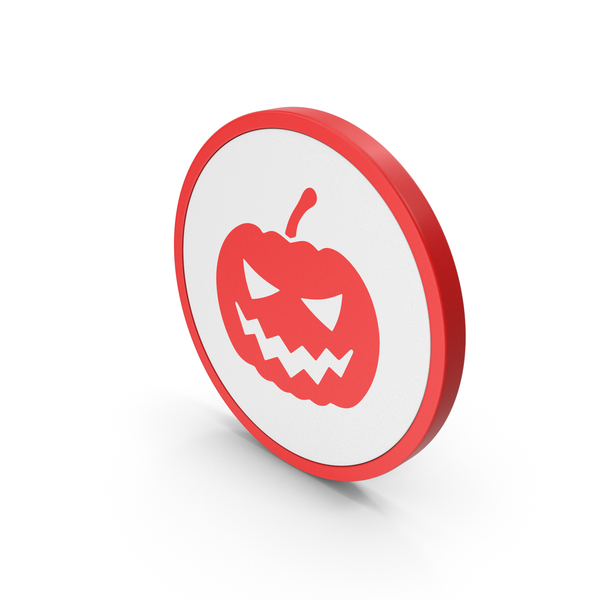 Symbols: Icon Halloween Pumpkin Red PNG & PSD Images