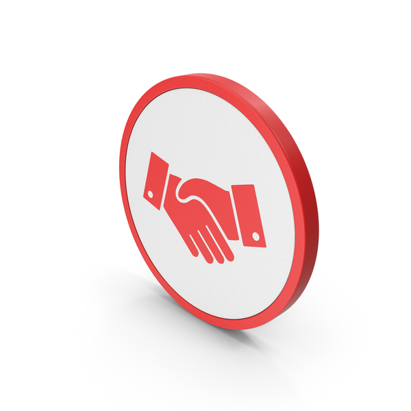 Computer: Icon Handshake Red PNG & PSD Images