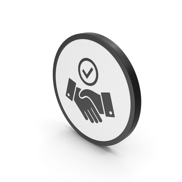 Computer: Icon Handshake With Checkmark PNG & PSD Images