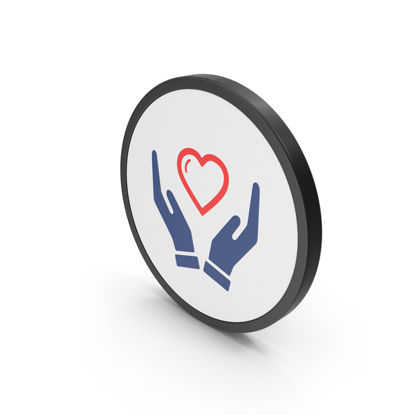 Heart Shaped Candy: Icon Heart In Hands Colored PNG & PSD Images