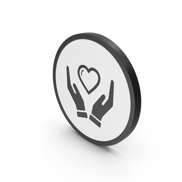 Heart Shaped Candy: Icon Heart In Hands PNG & PSD Images