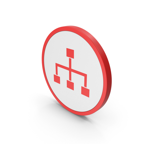 Industrial Equipment: Icon Hierarchical Organization Red PNG & PSD Images