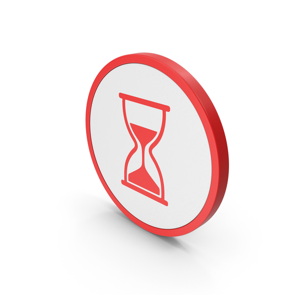 Computer: Icon Hourglass Red PNG & PSD Images