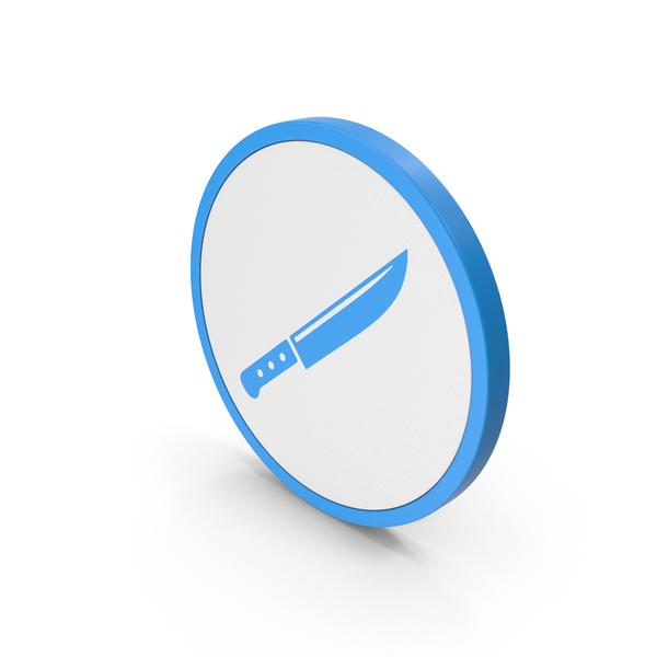 Icon Knife Blue PNG & PSD Images