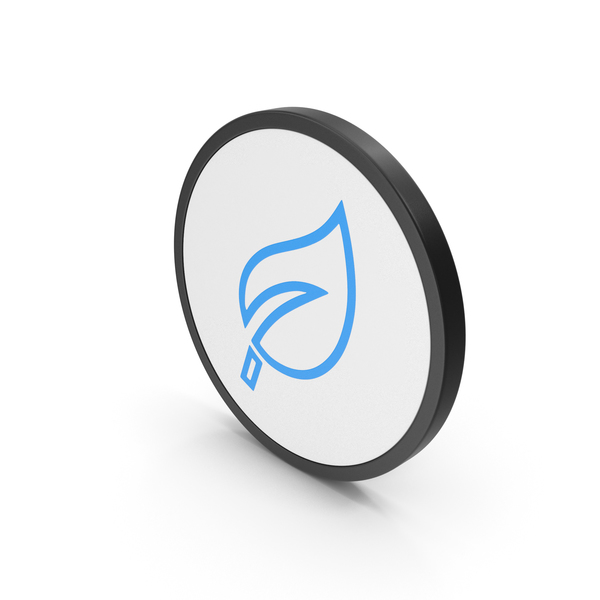 Computer: Icon Leaf Blue PNG & PSD Images
