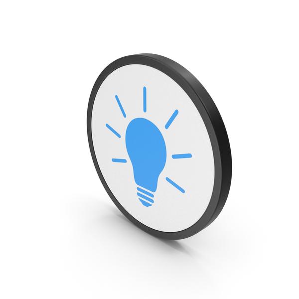 Lightbulb: Icon Light Bulb Blue PNG & PSD Images