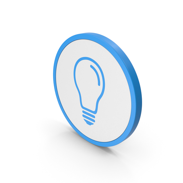 Logo: Icon Light Bulb Blue PNG & PSD Images