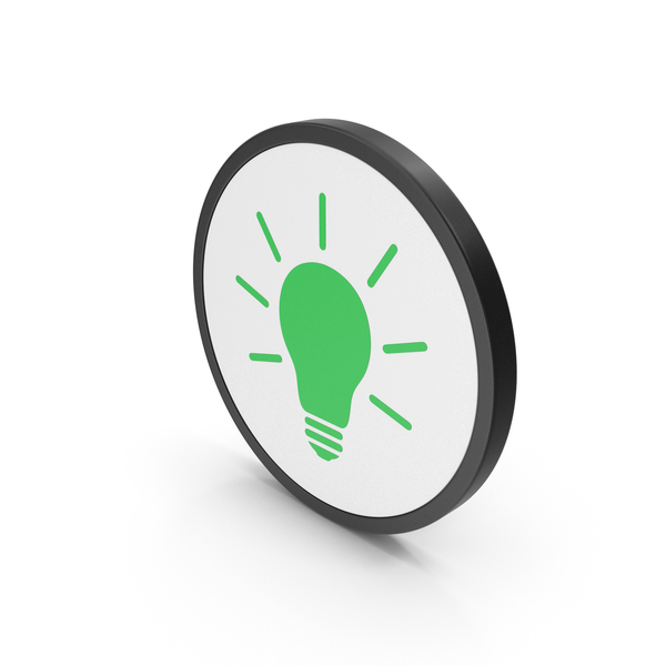 Logo: Icon Light Bulb Green PNG & PSD Images