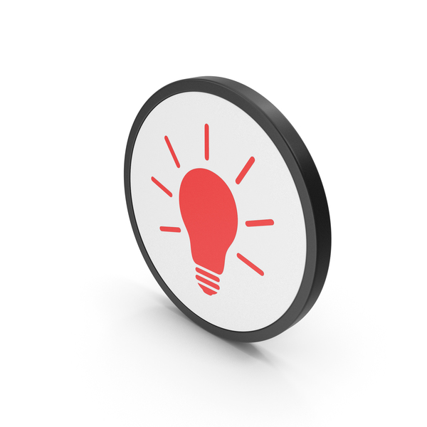 Lightbulb: Icon Light Bulb Red PNG & PSD Images