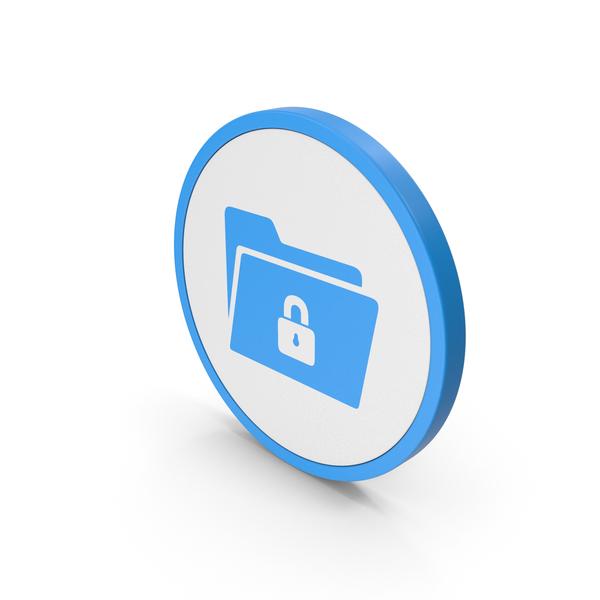 Symbols: Icon Locked File Folder Blue PNG & PSD Images