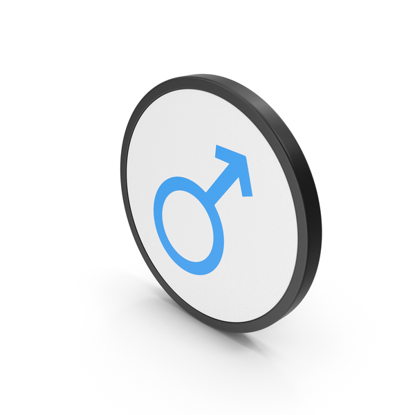 Symbol: Icon Male Blue PNG & PSD Images