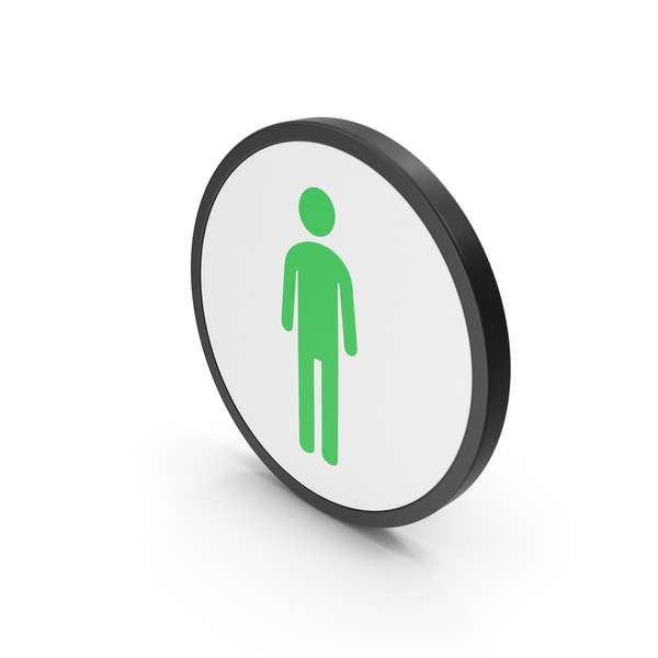 Symbol: Icon Male Toilet Green PNG & PSD Images