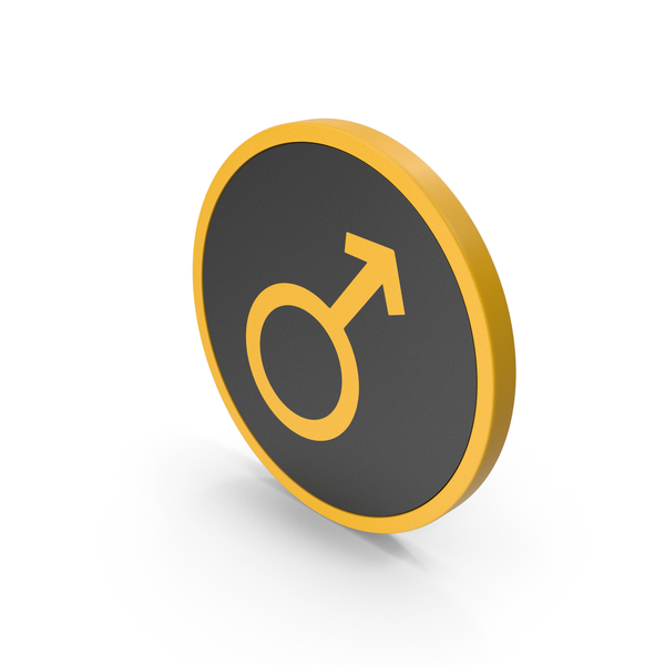 Symbol: Icon Male Yellow PNG & PSD Images