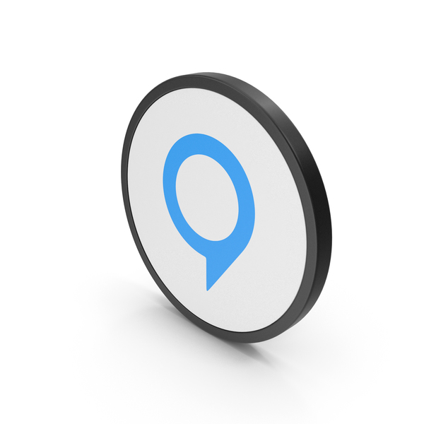 Icon Map Pin Blue PNG & PSD Images