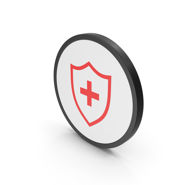 Caduceus: Icon Medical Shield Red PNG & PSD Images