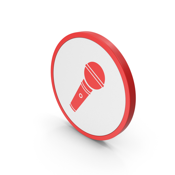 Computer: Icon Microphone Red PNG & PSD Images