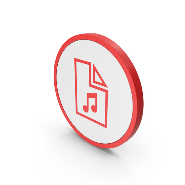 Computer: Icon Music File Red PNG & PSD Images