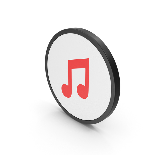 Musical: Icon Music Note Red PNG & PSD Images