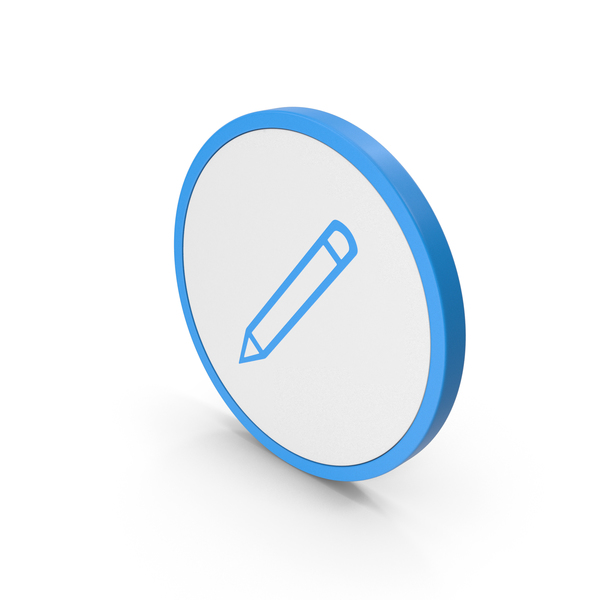 Computer: Icon Pencil Blue PNG & PSD Images