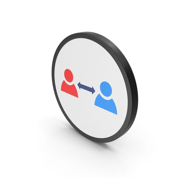 Computer: Icon People Connect Colored PNG & PSD Images