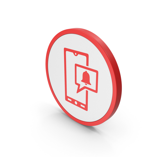 Symbols: Icon Phone Notification Red PNG & PSD Images