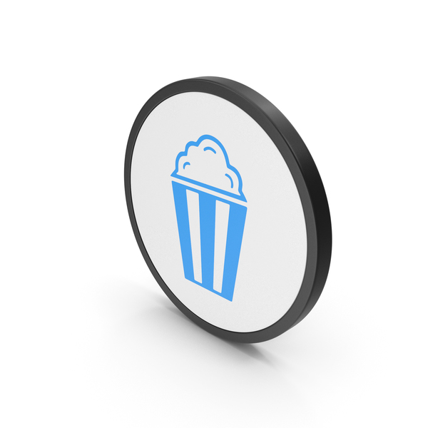 Icon Popcorn Blue PNG & PSD Images