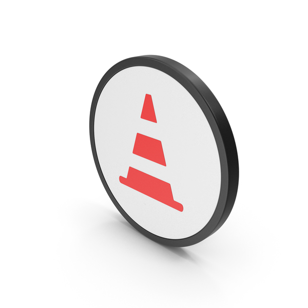 Traffic Signs: Icon Road Cone Red PNG & PSD Images