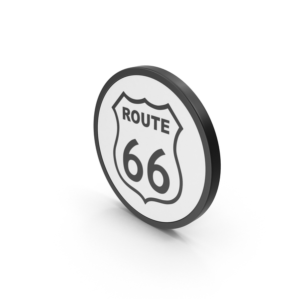 Street Sign: Icon Route 66 PNG & PSD Images