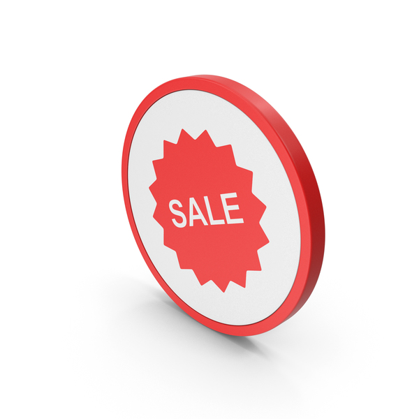 Symbols: Icon Sale Badge Red PNG & PSD Images