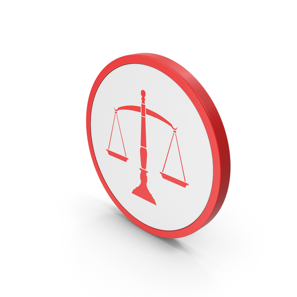 Logo: Icon Scales Of Justice Red PNG & PSD Images