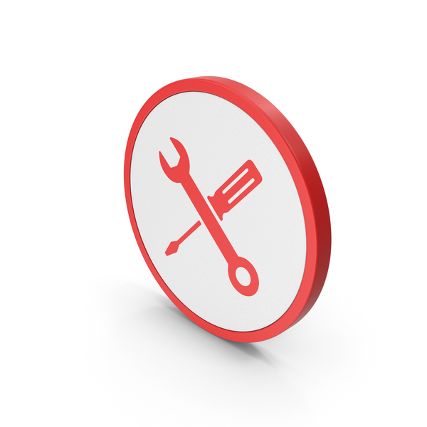 Logo: Icon Screwdriver And Wrench Red PNG & PSD Images