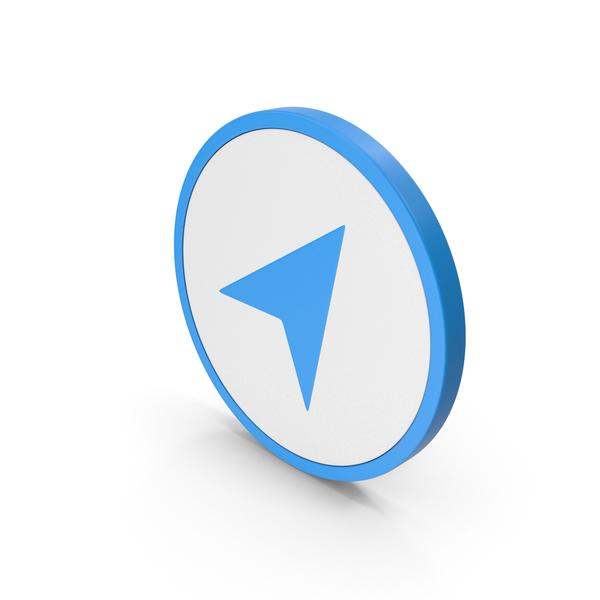Logo: Icon Send Button / Arrow Blue PNG & PSD Images