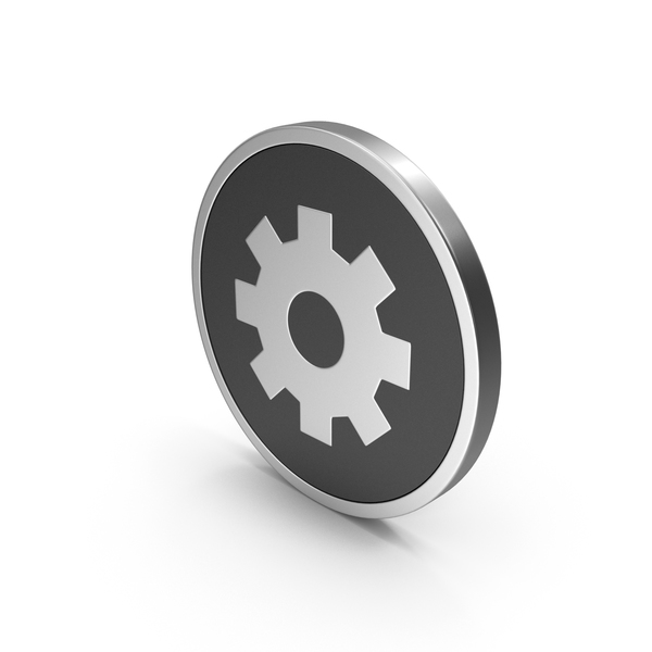 Computer: Icon Settings Silver PNG & PSD Images