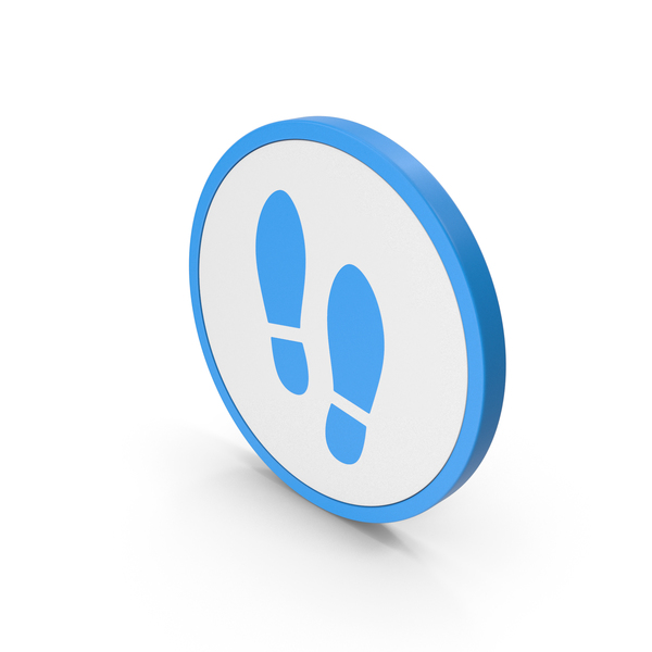 Logo: Icon Shoe Footprint Blue PNG & PSD Images