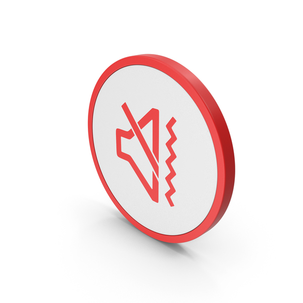 Computer: Icon Sound Vibrate Red PNG & PSD Images